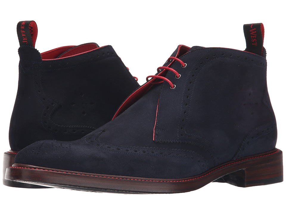 Jeffery-West - Wing Chukka (Navy Suede) Men's Boots