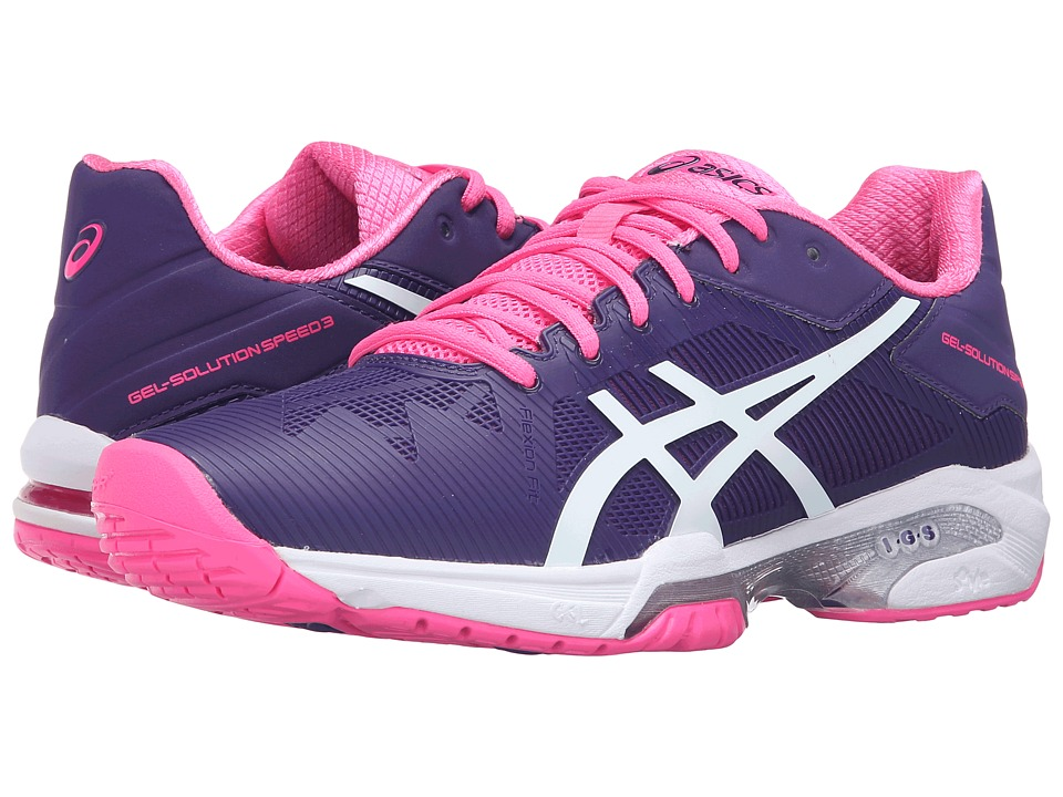 ASICS - Gel-Solution Speed 3 (Parachute Purple/White/Hot Pink) Women's Tennis Shoes