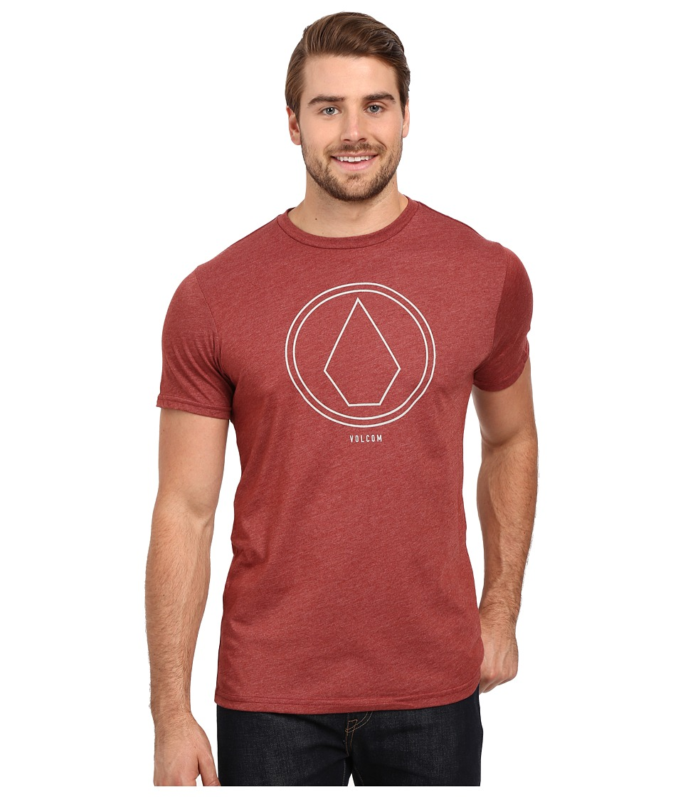 Volcom - Pin Line Stone Tee (Port Heather) Men's T Shirt