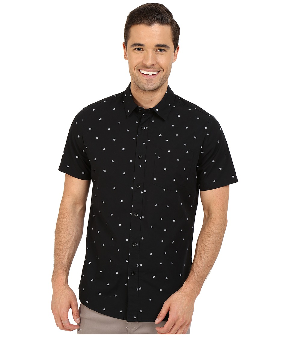 Volcom - Royal Flush Short Sleeve Woven (Ink) Men's Short Sleeve Button Up