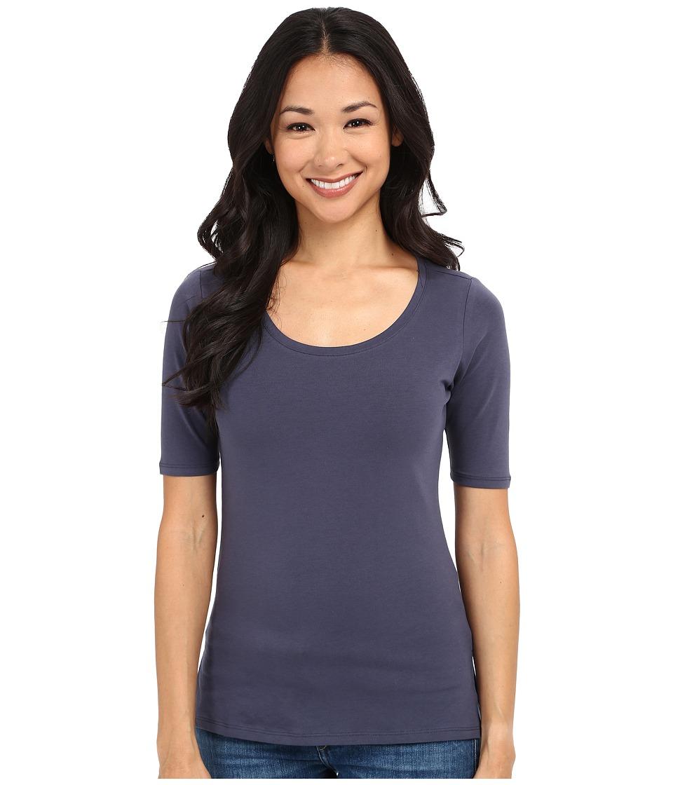 Pendleton - Petite Sonia Tee (Indigo) Women's Short Sleeve Pullover