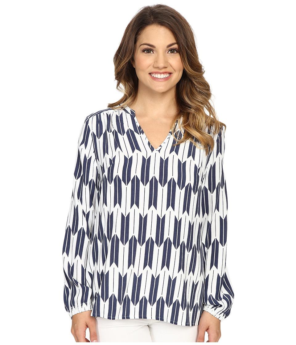 Pendleton - Petite Terra Tunic (Indigo Arrow Stripe Print) Women's Blouse
