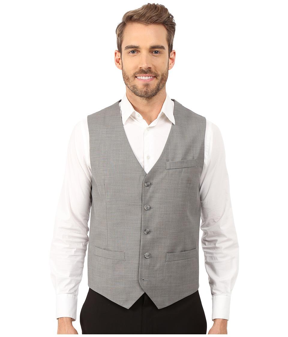 Perry Ellis - Solid Texture Suit Vest (Brushed Nickel) Men's Vest