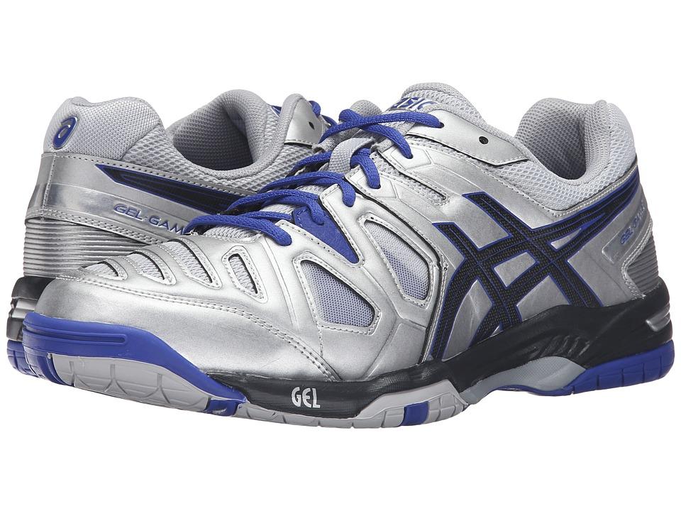 ASICS - Gel-Game 5 (Silver/Black/Asics Blue) Men's Tennis Shoes