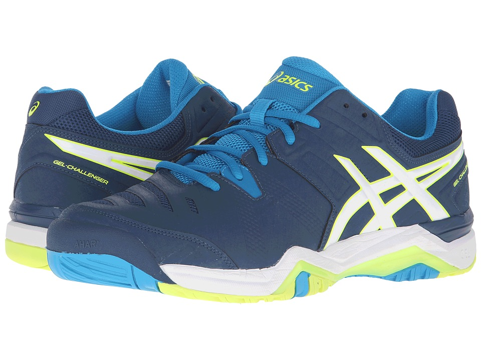 ASICS - GEL-Challenger 10 (Poseidon/White/Yellow) Men's Tennis Shoes