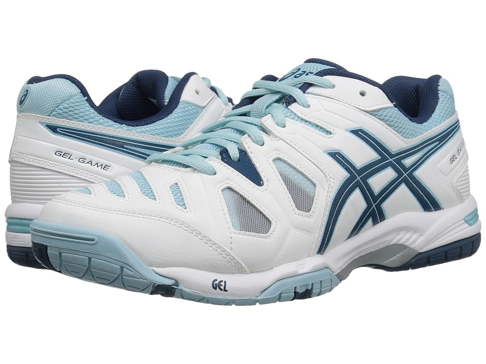 ASICS Gel-Game 5 (White/Blue Steel/Crystal Blue) Women