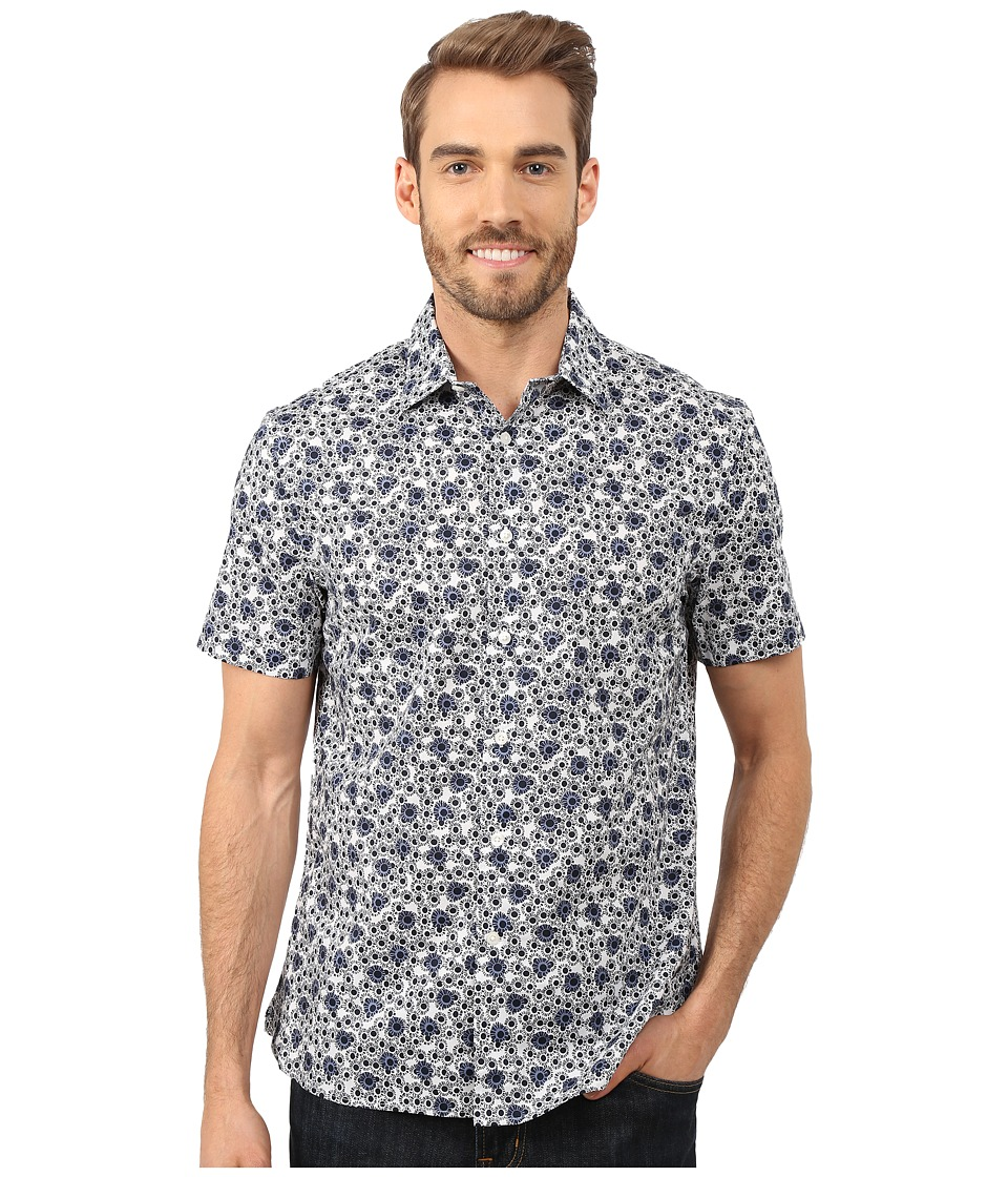 Perry Ellis - Exclusive Graphic Flower Print Shirt (Bright White) Men's Clothing