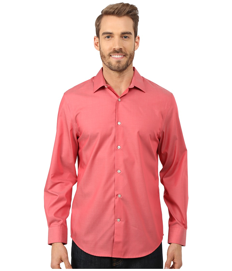 Perry Ellis - Non-Iron Travel Luxe Solid Shirt (Baked Apple) Men's Clothing