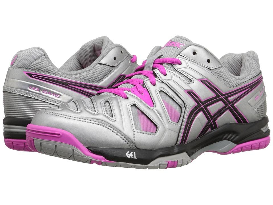 ASICS - Gel-Game 5 (Silver/Black/Pink Glow) Women's Tennis Shoes