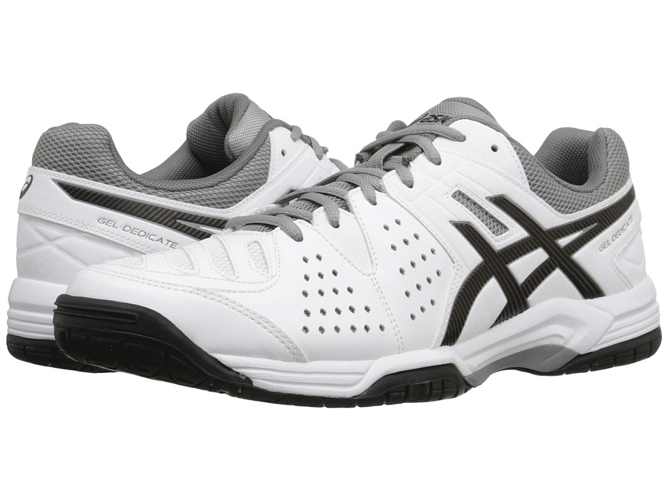 ASICS Gel-Dedicate 4 (White/Black/Aluminum) Men