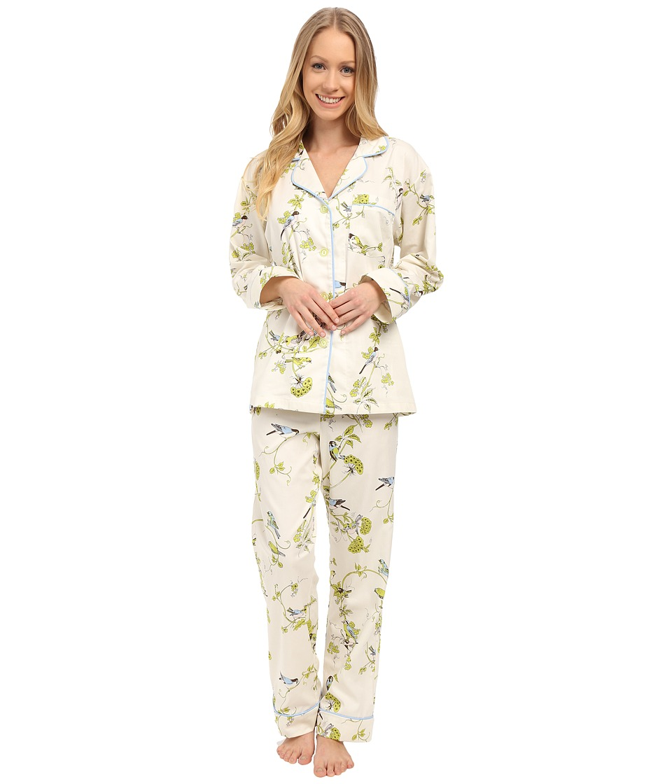BedHead - Long Sleeve Classic PJ Set (Blue Birds Branches) Women's Pajama Sets