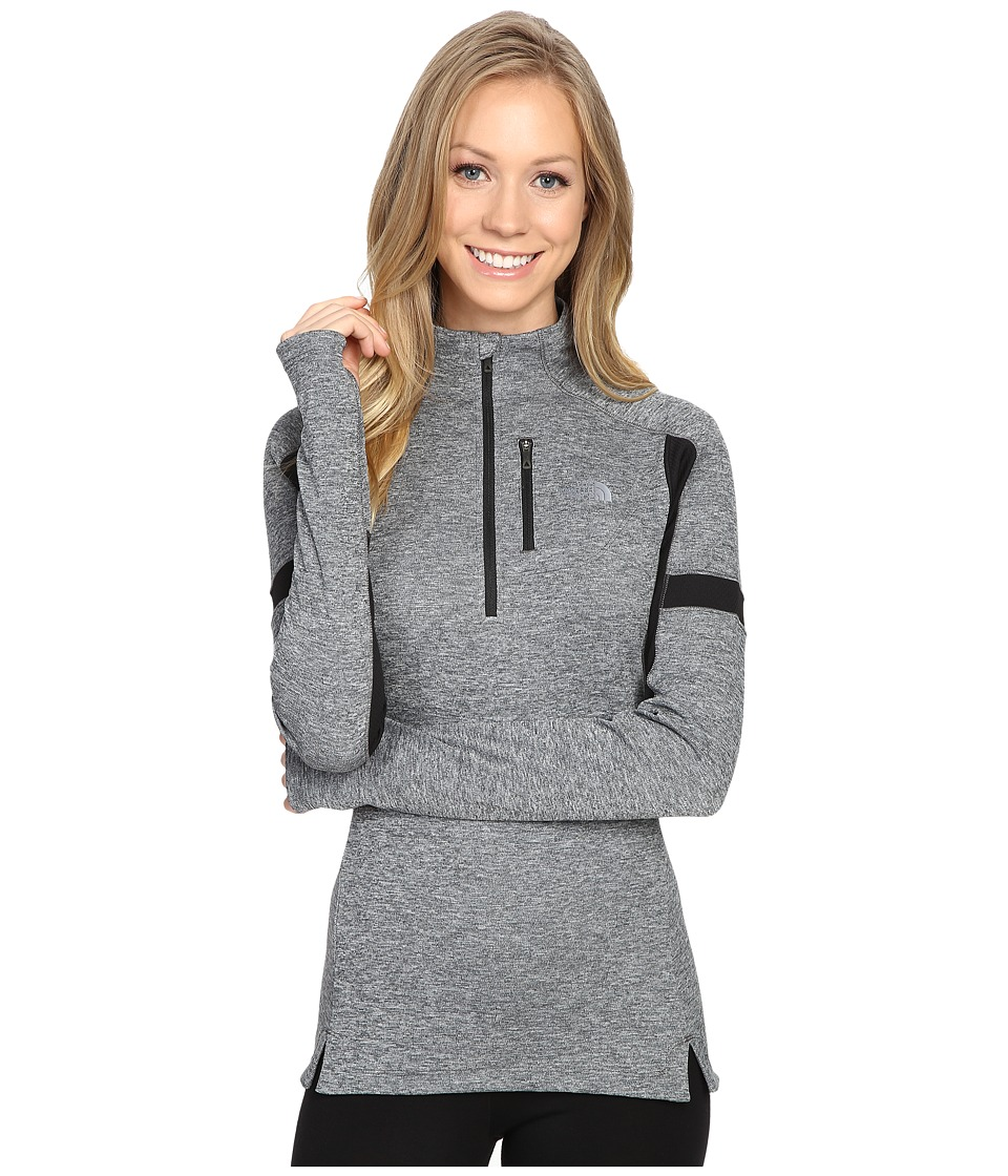 The North Face - Impulse Active 1/4 Zip Pullover (TNF Medium Grey Heather/TNF Black) Women's Long Sleeve Pullover