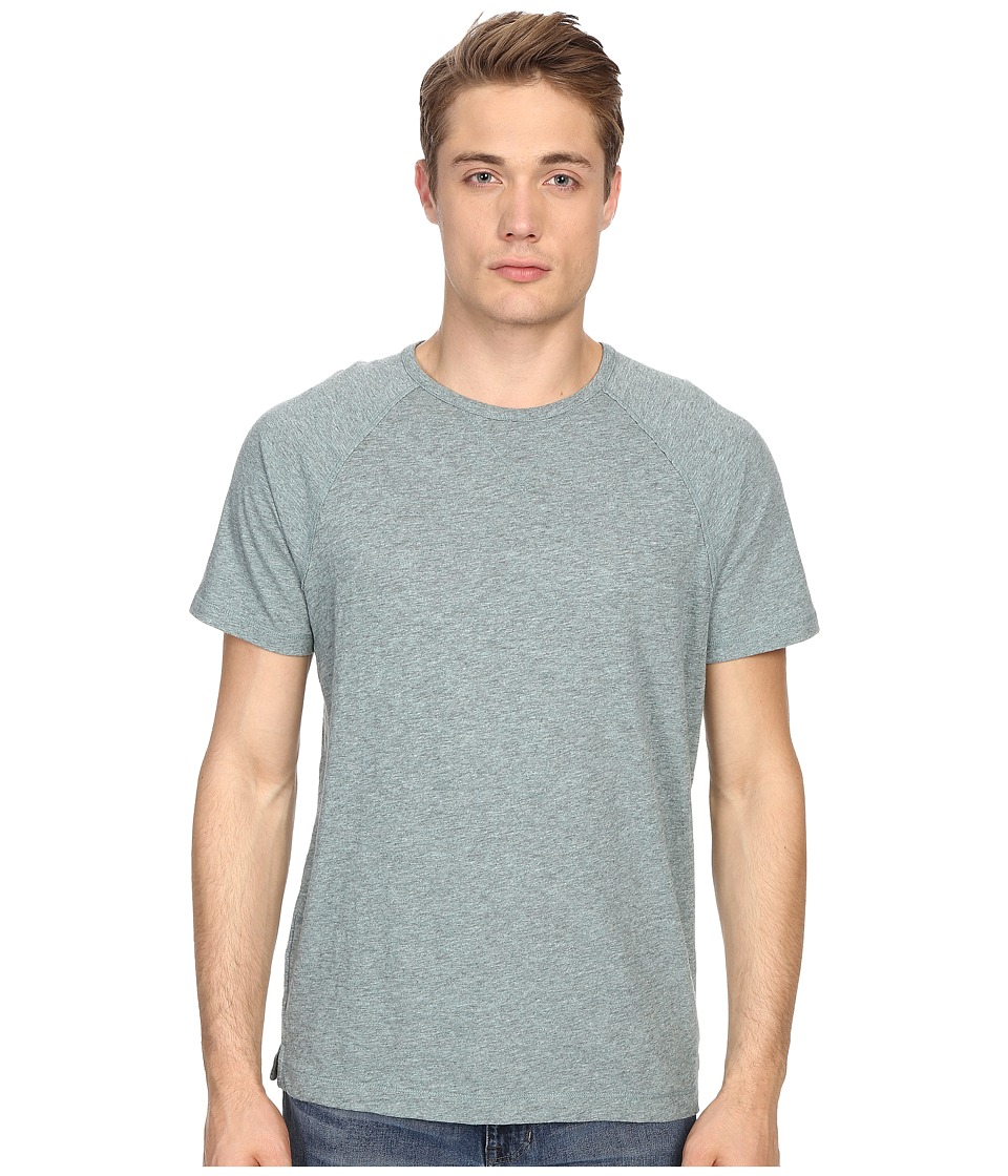 Vince - Cotton Slub Fabric Blocket Short Sleeve Raglan (Heather Trooper) Men's T Shirt