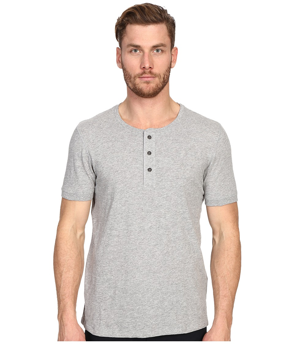 Vince - Short Sleeve Henley (Heather Steel) Men's T Shirt