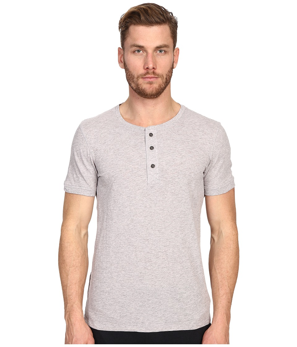 Vince - Short Sleeve Henley (Heather Elderberry) Men's T Shirt