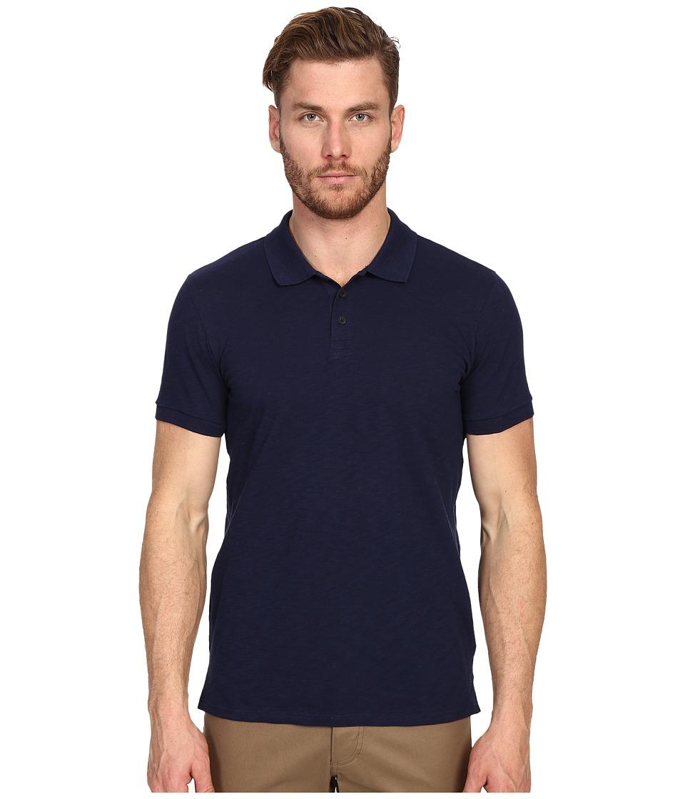 Vince - Short Sleeve Polo (Indigo) Men's T Shirt