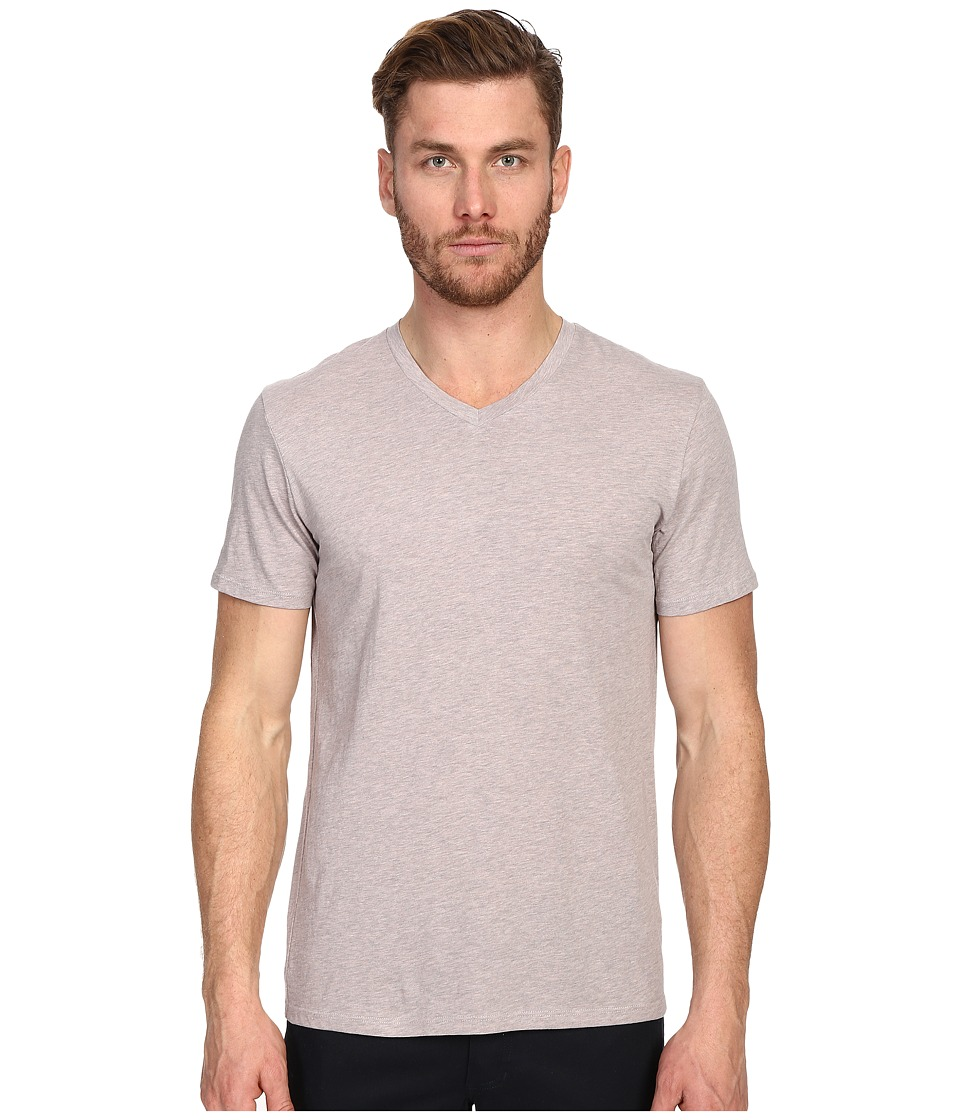 Vince - Short Sleeve V-Neck (Heather Elderberry) Men's T Shirt