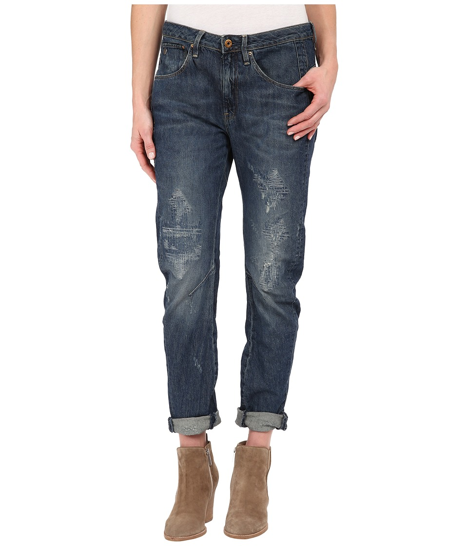 G-Star - Arc 3D Low Boyfriend Jeans in Halton Denim (Medium Aged Restored 58) Women's Jeans