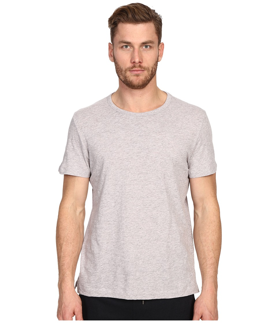 Vince - Refined Slub Crew Neck T-Shirt (Heather Elderberry) Men's T Shirt