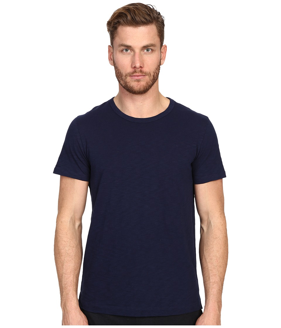 Vince - Refined Slub Crew Neck T-Shirt (Heather Indigo) Men's T Shirt