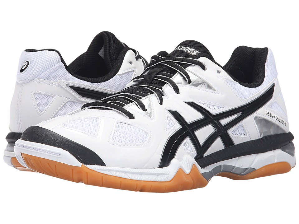 ASICS - GEL-Tactictm (White/Black/Silver) Women's Volleyball Shoes