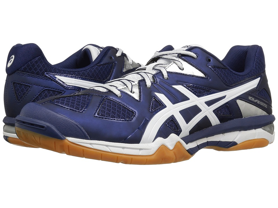 ASICS - GEL-Tactictm (Estate Blue/White) Women's Volleyball Shoes