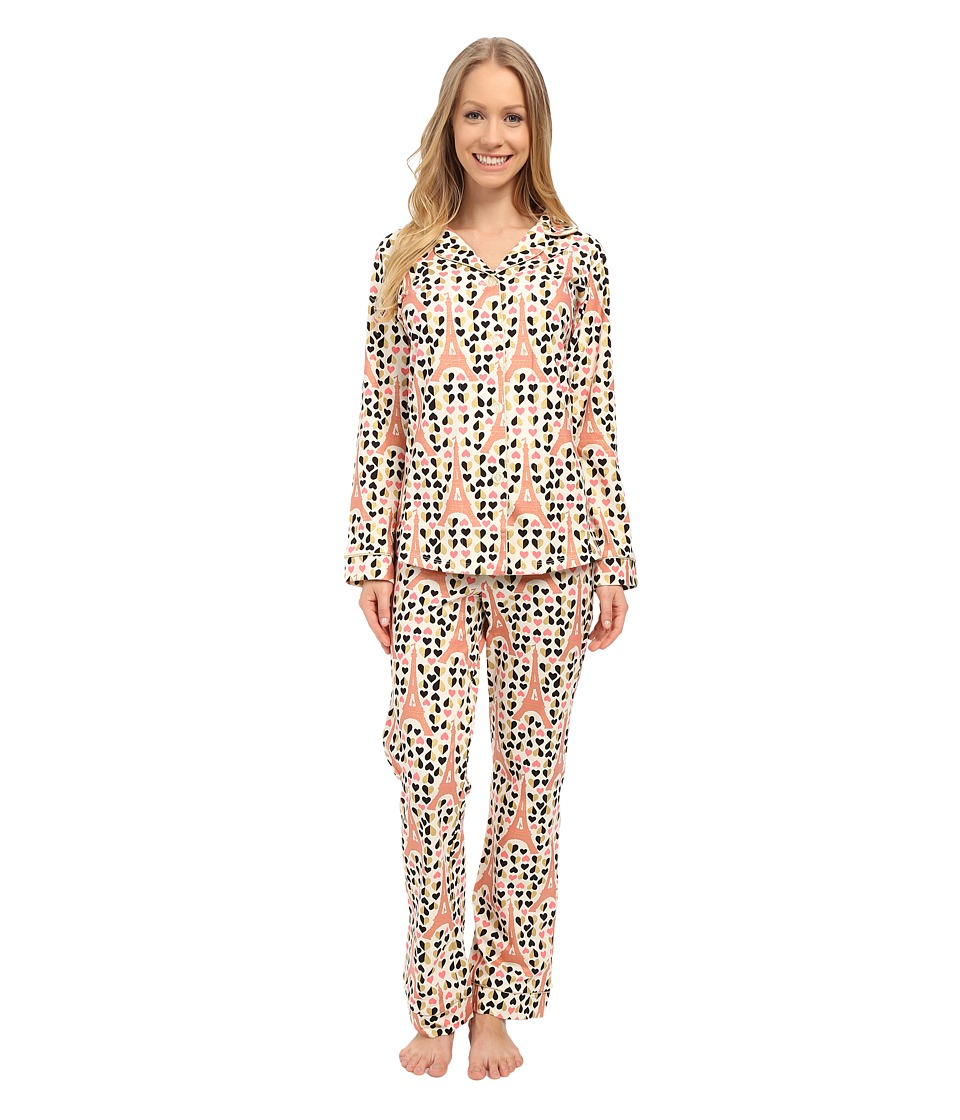 BedHead - Classic Stretch PJ Set (Eiffel Hearts) Women's Pajama Sets
