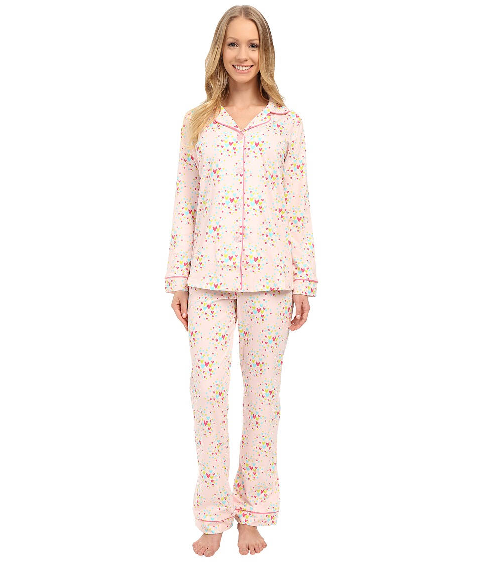 BedHead - Classic Stretch PJ Set (Confetti Hearts) Women's Pajama Sets