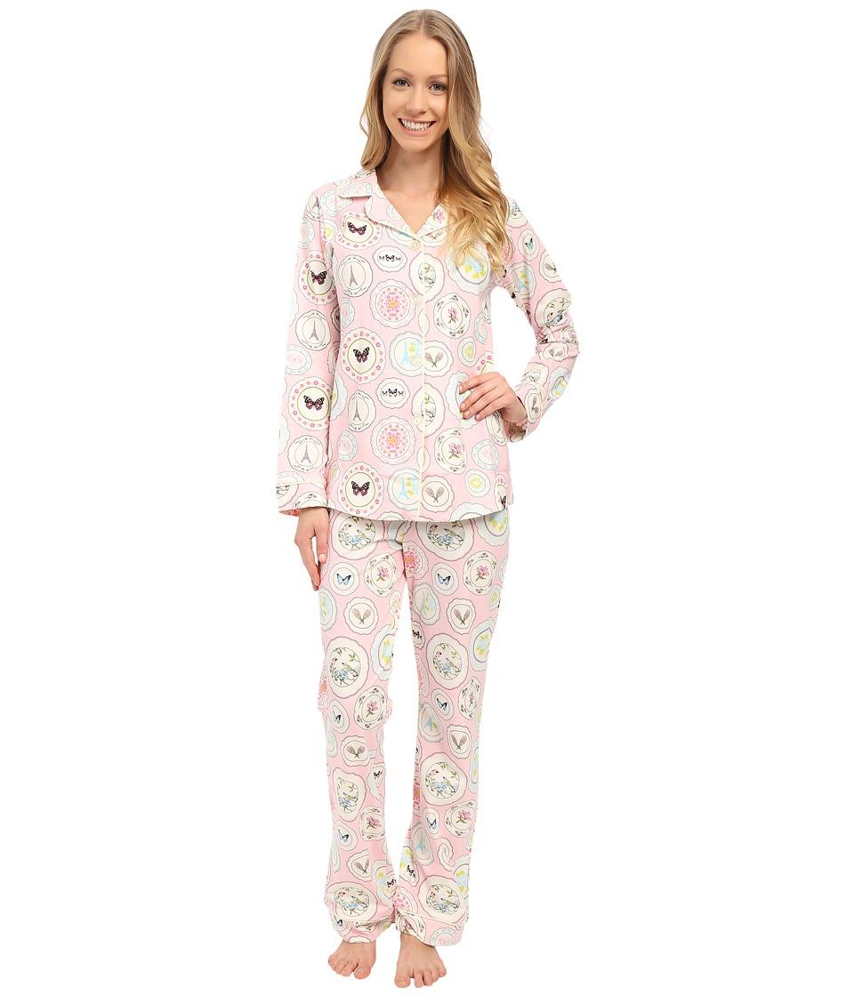 BedHead - Classic Stretch PJ Set (Pink Plat Du Jour) Women's Pajama Sets