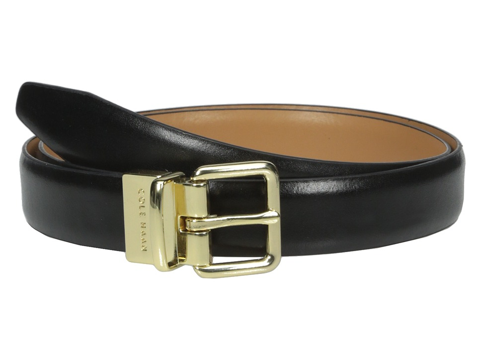 Cole Haan - 1 Reversible Dress Calf Belt (Black/Acorn) Men's Belts