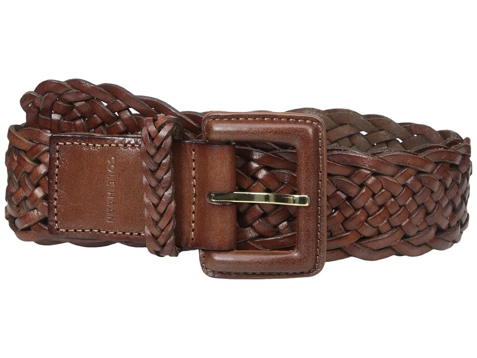 Cole Haan - 40mm Braided Veg Leather Belt with Covered Harness Buckle (Woodbury) Women's Belts
