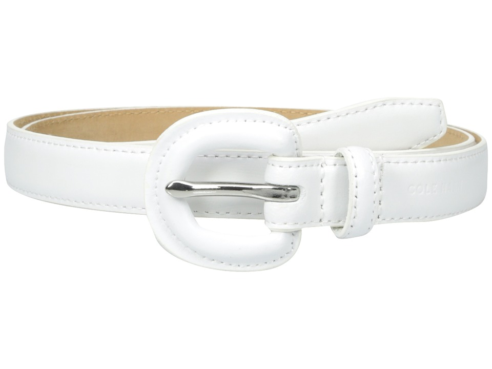 Cole Haan - 7/8 Dress Calf Belt with Matching Covered Buckle (White) Women's Belts
