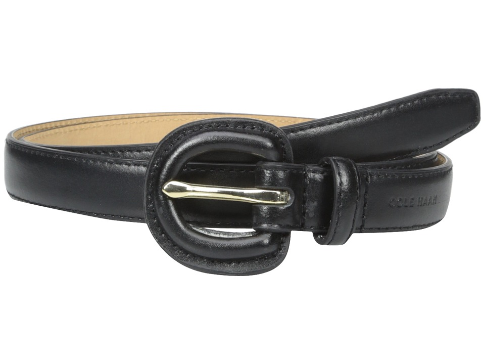 Cole Haan - 7/8 Dress Calf Belt with Matching Covered Buckle (Black) Women's Belts