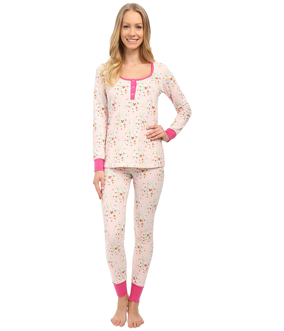 BedHead - Henley Stretch PJ Set (Confetti Hearts) Women's Pajama Sets