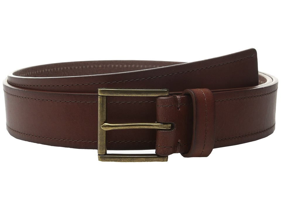 Cole Haan - 35mm Flat Strap with Stitch and Burnishing Belt (Woodbury) Men's Belts
