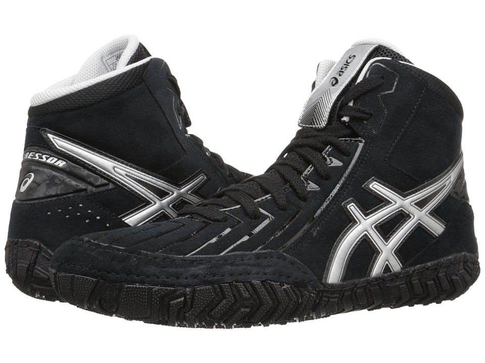 ASICS - Aggressor 3 (Black/Silver) Men's Wrestling Shoes