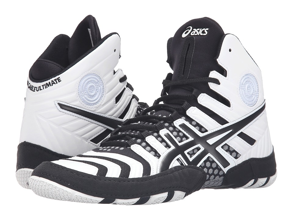 ASICS - Dan Gable Ultimate 4 (White/Black/Aluminum) Men's Wrestling Shoes
