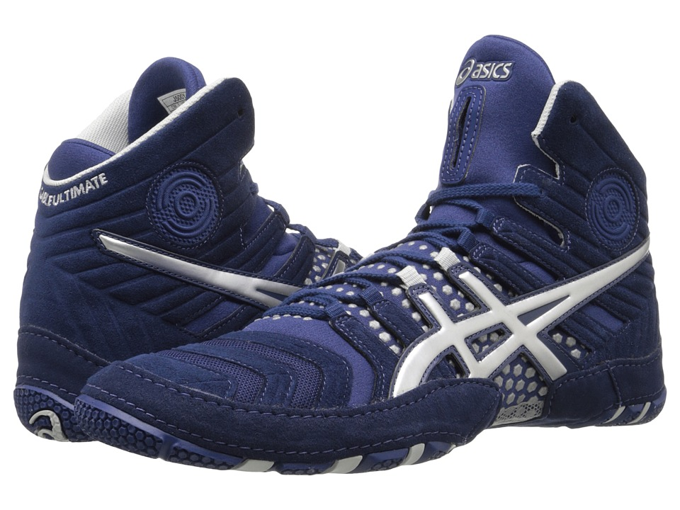 ASICS - Dan Gable Ultimate 4 (Estate Blue/Silver) Men's Wrestling Shoes