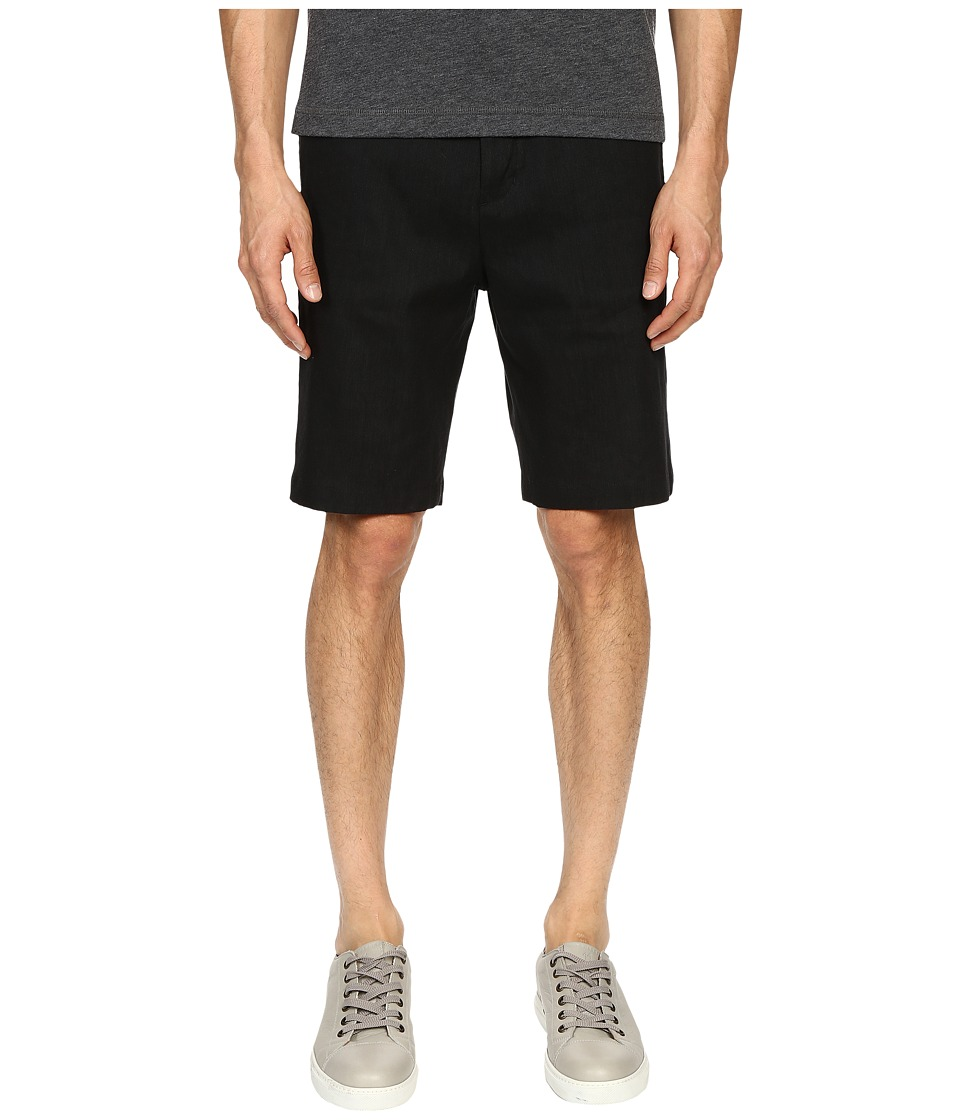Vince - Relaxed Linen Shorts (Black) Men's Shorts