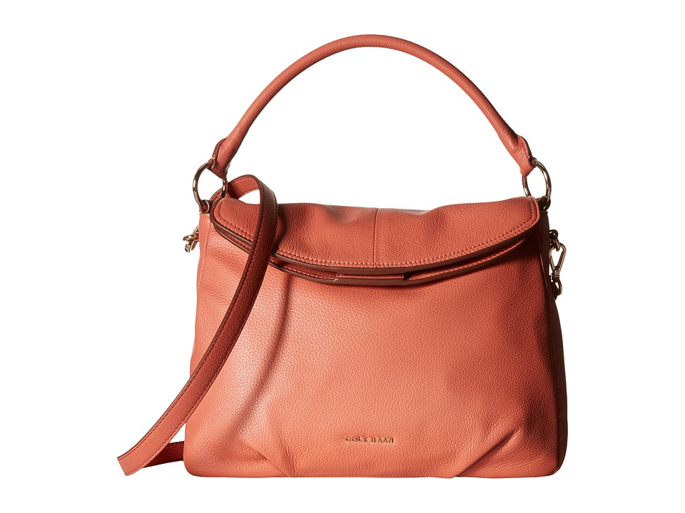 Cole Haan - Magnolia Crossbody Hobo (Coral) Hobo Handbags