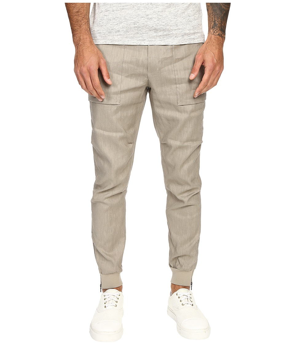 Vince - Linen Flight Pants (Vintage Khaki) Men's Casual Pants