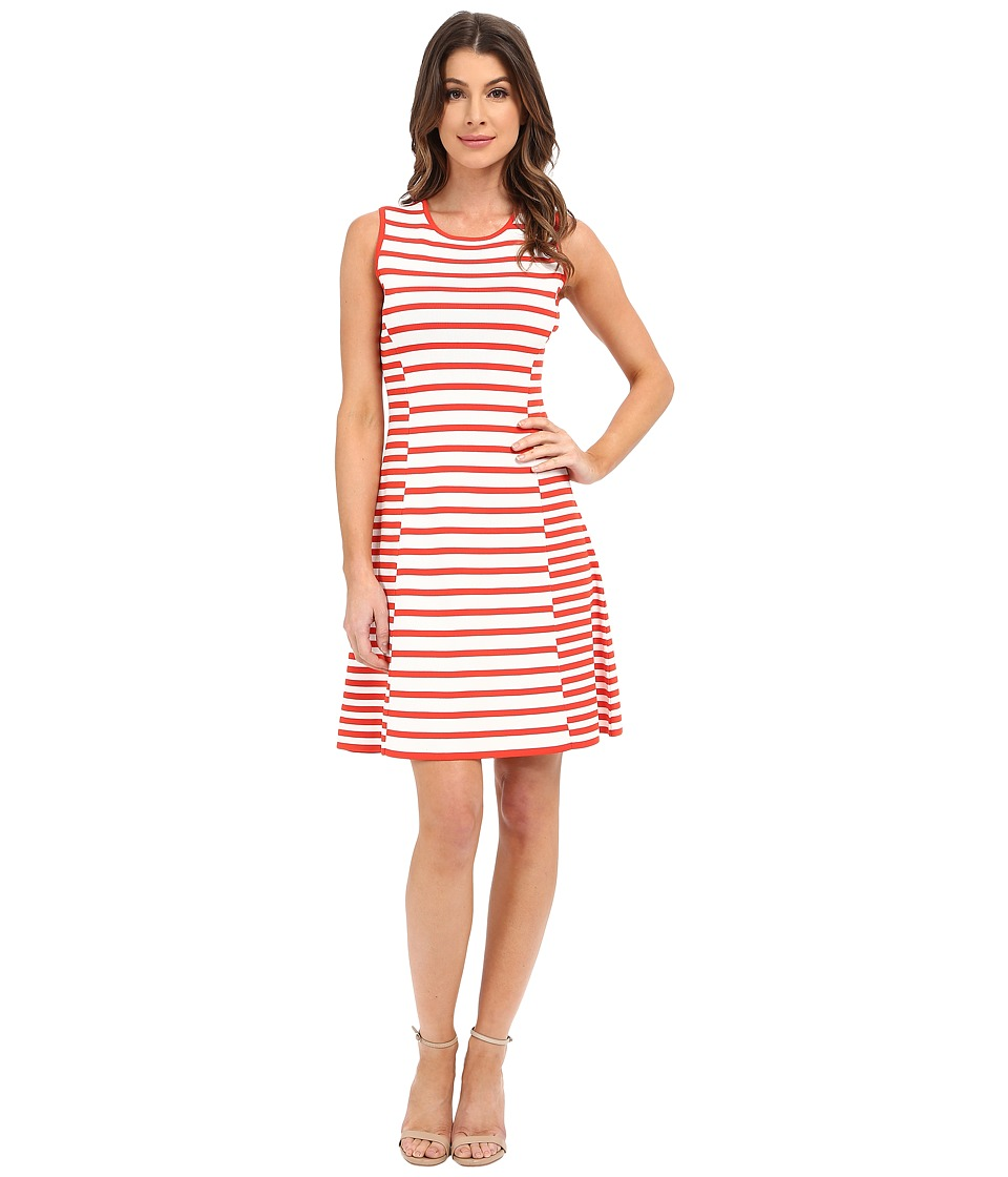CATHERINE Catherine Malandrino - Claire Dress (Fire Poppy/White) Women's Dress