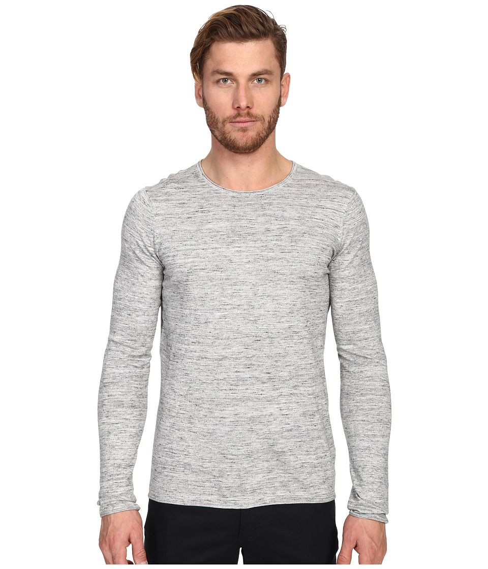 Vince Sporty Jaspe Long Sleeve Crew (Heather Mist Jaspe) Men