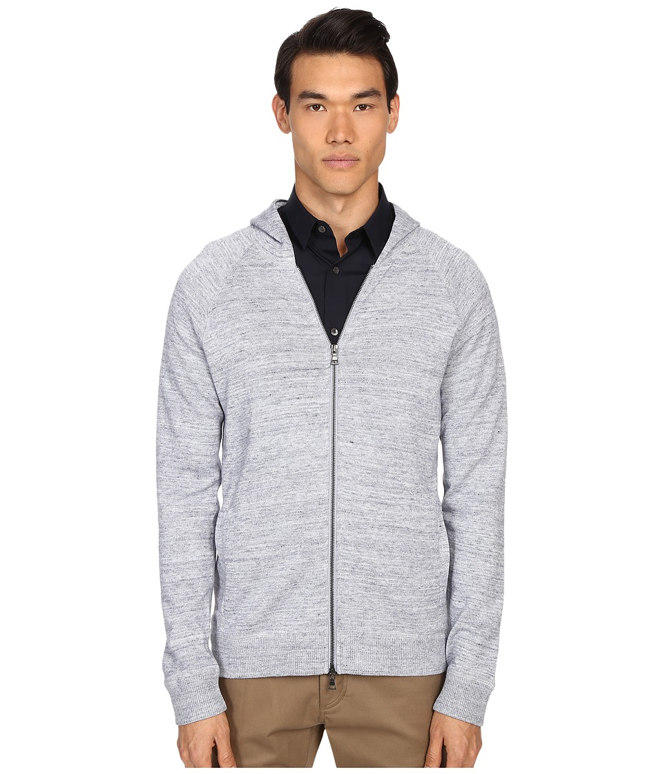Vince - Sporty Jaspe Raglan Hoodie (Heather Herring) Men