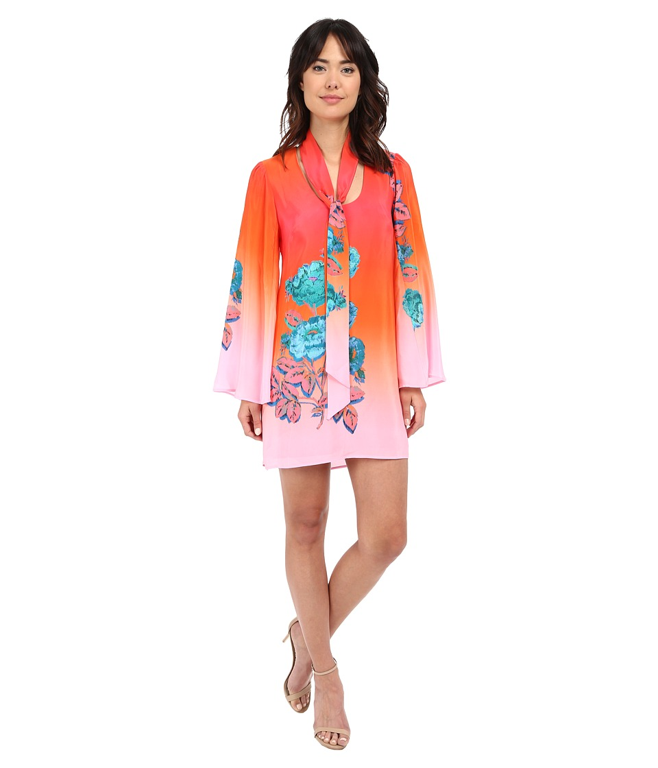 Nanette Lepore - Neon Nights Frock (Coral Multi) Women's Dress