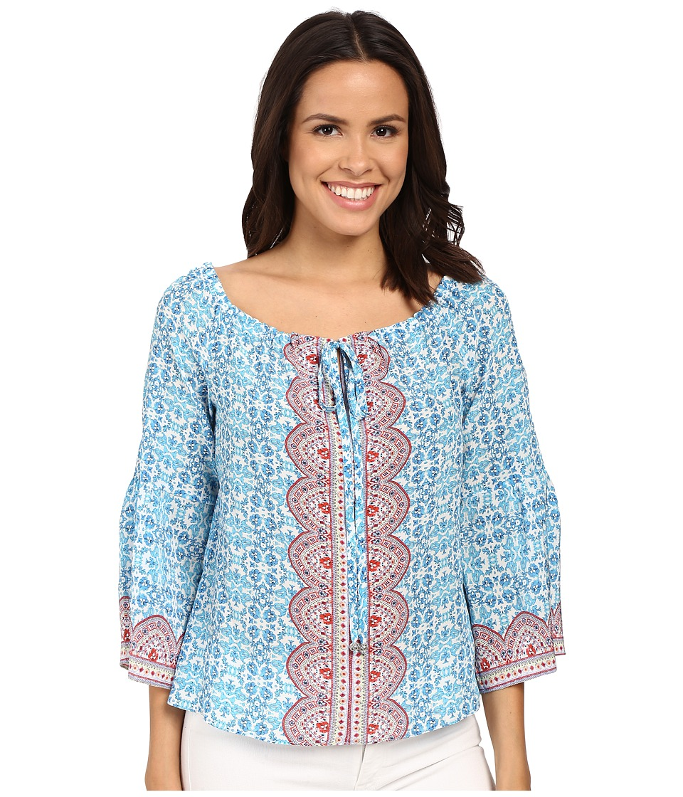 Nanette Lepore - Fancy Find Top (Light Blue Multi) Women's Clothing