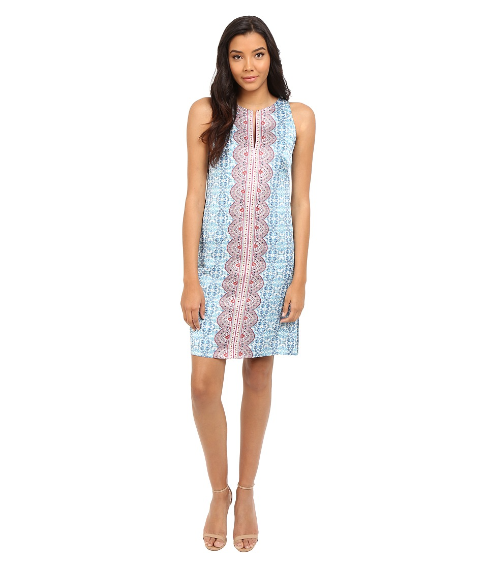 Nanette Lepore Pretty Porcelain Dress (Light Blue Multi) Women