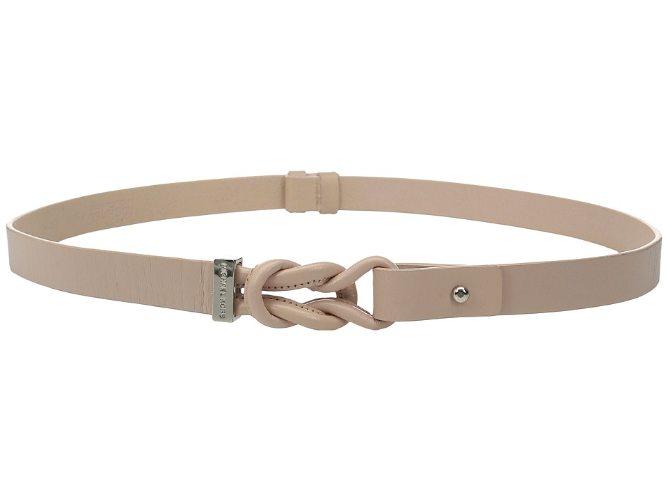 MICHAEL Michael Kors - 20mm Veg Leather Belt with Knotted Front and Collar Stud Closure (Pale Pink) Women