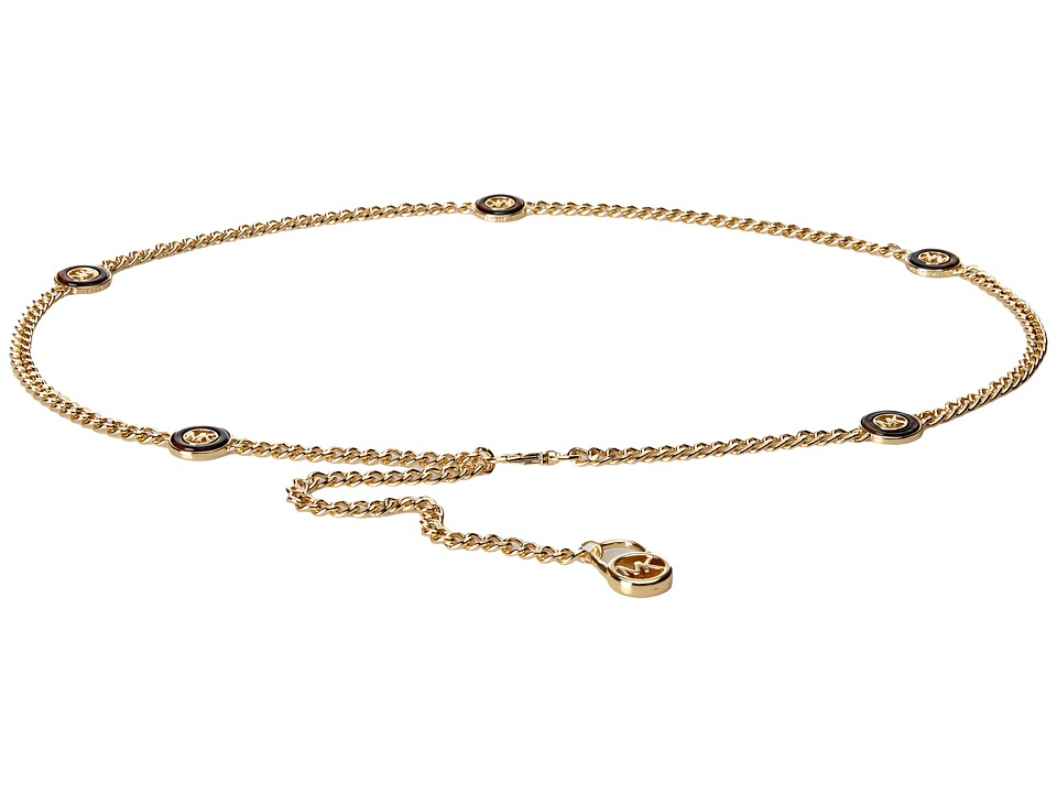 MICHAEL Michael Kors - Chain Belt with Tortoise Ornaments (Gold/Tortoise) Women's Belts