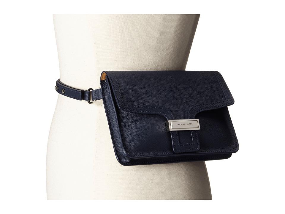 MICHAEL Michael Kors - 13mm Saffiano Panel Belt Bag (Navy) Women's Belts